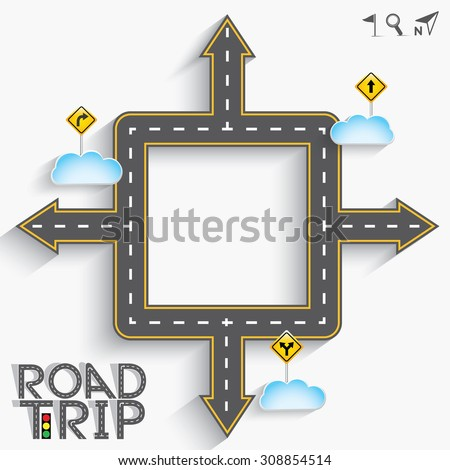 design road street frame words road stock vector royalty free