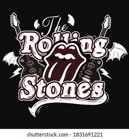design rock themed the rolling stones