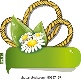 Design with rope and chamomile, vector illustration, eps-10