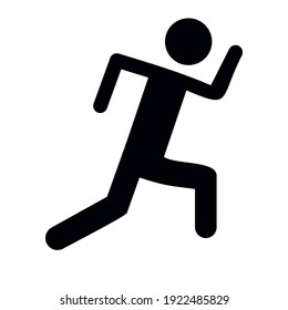 Design Running People Vector Icon Project