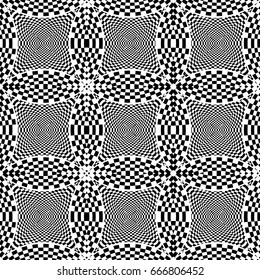 Design seamless monochrome checked pattern. Abstract monochrome background. Vector art