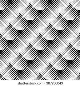 Design seamless monochrome geometric pattern. Abstract diagonal background. Vector art. No gradient