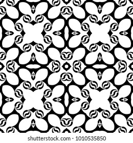 Design seamless monochrome waving pattern. Abstract zigzag background. Vector art