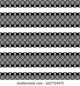 Design seamless zigzag pattern. Abstract monochrome lacy background. Vector art