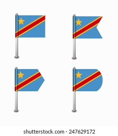 design set of four flags Democratic Republic of the Congo