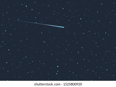 Design of shooting star in universe