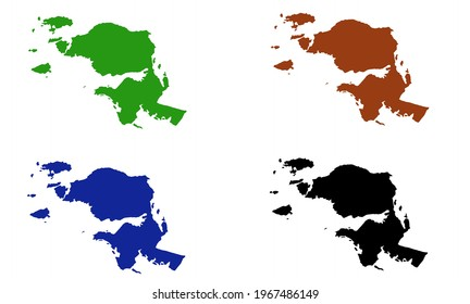 design silhouette map of West Papua province in Indonesia with white background