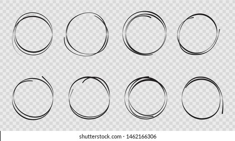 Design sketch hand drawn circle. Graphic round doodle in sketch style.Draft bubble of pencil. vector illustration eps10