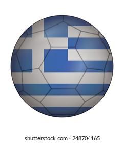 design soccer ball flag of Greece
