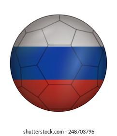 design soccer ball flag of Russia