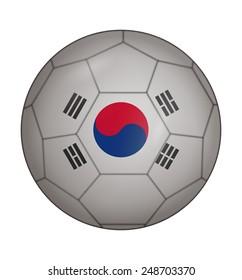 design soccer ball flag of South Korea