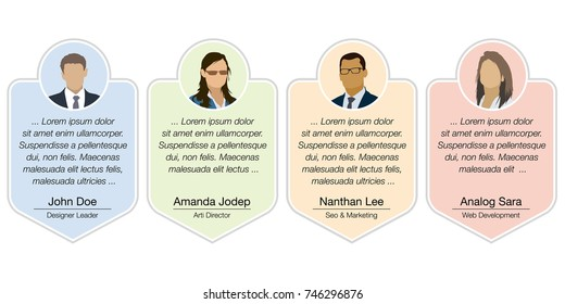 Design speech diagram for infographic and website. Creative testimonials template.