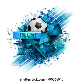 design sports football banner ball vector text