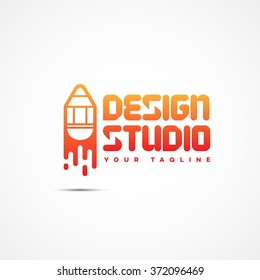 Design studio logo template design. Vector illustration.