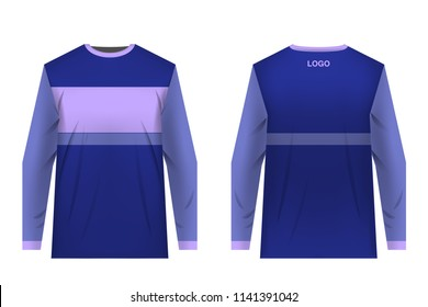Design for sublimation print. Jersey for extreme sport. Sportswear for competition. Team or club uniform. Jersey for mountain bike, motocross, cycling, downhill. Sportswear concept, templates.