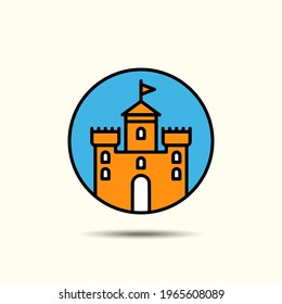 Design symbolizing a castle, ancient architecture.