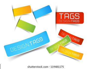 Design Tags and Labels - grouped vector elements