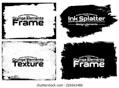 Design template. Abstract grunge frame set texture. Stock vector set - easy to use