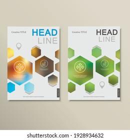 Design template abstract hexagonal shapes