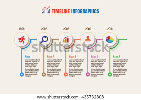 design template business timeline vector illustration のベクター