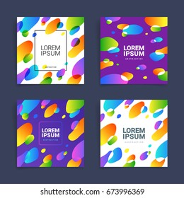 Design template with circles style. Cover for Leaflet, presentation, Banners, Placards, Posters, Flyers. Different  colors. Vector, illustration, flat
