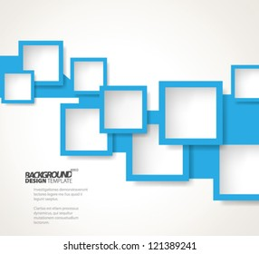 Design Template - eps10 Abstract Squares Background