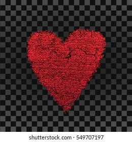 Design Template. Heart for Valentines Day Background, wrapping, wallpaper, textile, invitation, wedding card, romantic card.
