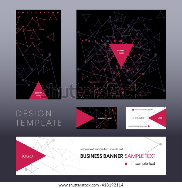 Design Template Invitation Company Event Cover Stock Image