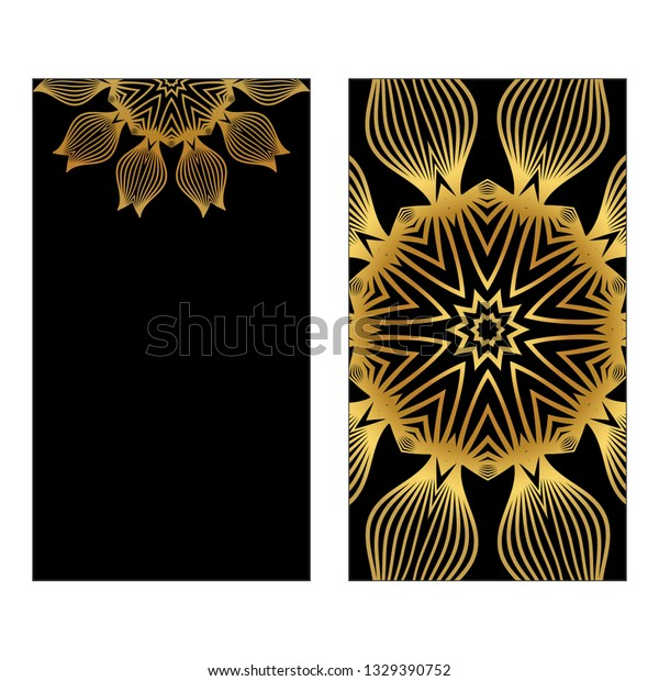 Design Template Invitations Flyers Yoga Studio Stock Vector Royalty Free 1329390752