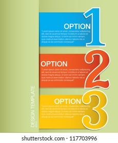 Design template Options Banner & Card. Vector illustration