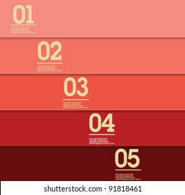 Design template - red / graphic or website layout vector