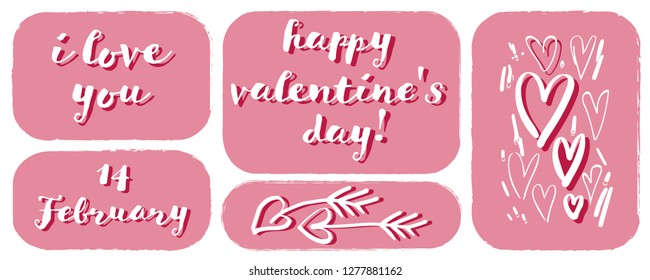 Design Template for Valentines Day. Vector illustration.
