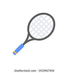 The design of the tennis court sport flat icon vector illustration, this vector is suitable for icons, logos, illustrations, stickers, books, covers, etc.