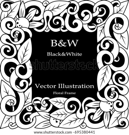 Design Text Black White Color Composition Stock Vector Royalty Free