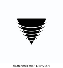 Design the tip of the logo icon drill