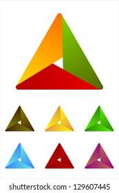 Design triangle logo element. Infinite cross ribbon vector design icon template.