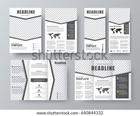 design triple brochure flyer format a 4 stock vector royalty free