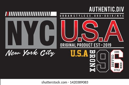 Design Typography nyc for print t shirt