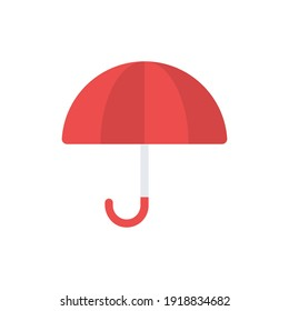 The design of the umbrella spring flat icon vector illustration, this vector is suitable for icons, logos, illustrations, stickers, books, covers, etc.