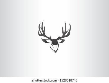 design vector animal head in the shape of a deer
