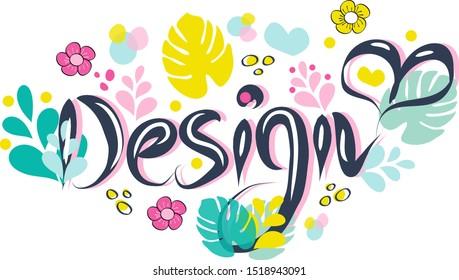 Design vector greeting card or postcard. Floral background