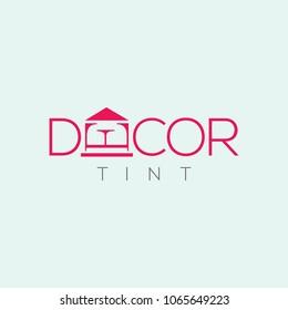 Design vector logo . Decoration logo. Interiors emblem. Interior design logo. Design line label. Fashion line sign (symbol, icon)