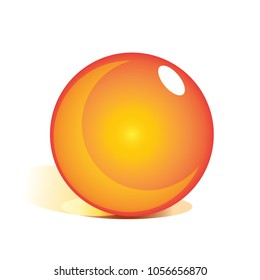 design of vector orange marbles. crystal ball. template dragon ball z