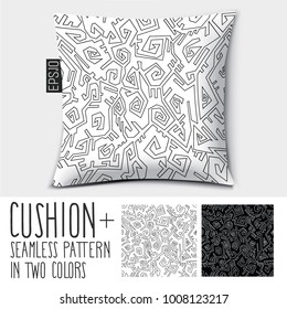 Design vector pillow (cushion).