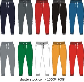 design vector template pants