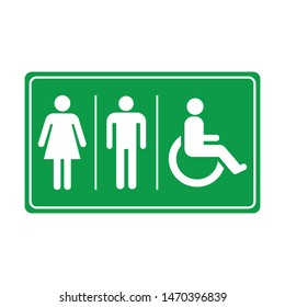 design vector toilet icon symbol of man and woman