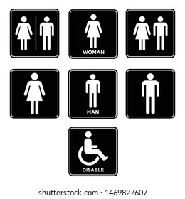 design vector toilet sign icon symbol