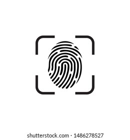 design vector touch id and face id icon symbol