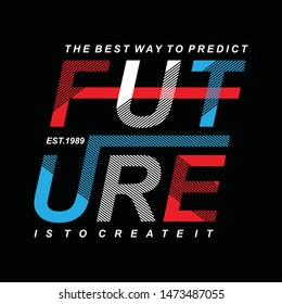 Design vector typography varsity collection future for t shirt print men