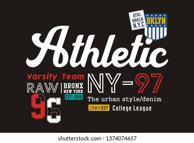design vector typography varsity for print t shirt men